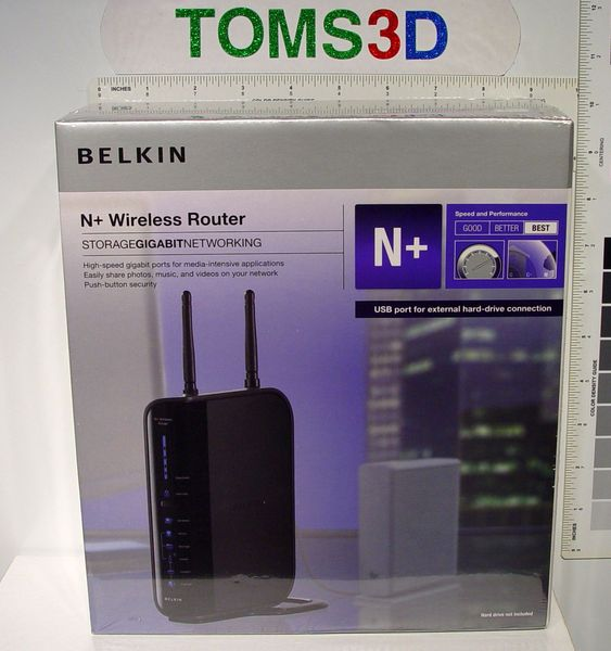 NEW Belkin F5D8235-4 N+ Wireless Router Gigabit Storage